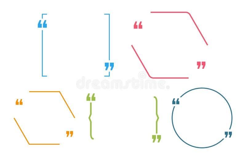 Цитация цитаты прикрывает пузырь для вашего текста иллюстрация вектора