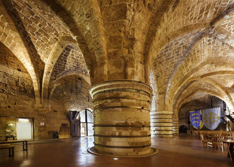 Цитадель в Akko, Akre, акре, акре ` Джина d Святого, Израиле, среднем e стоковые изображения