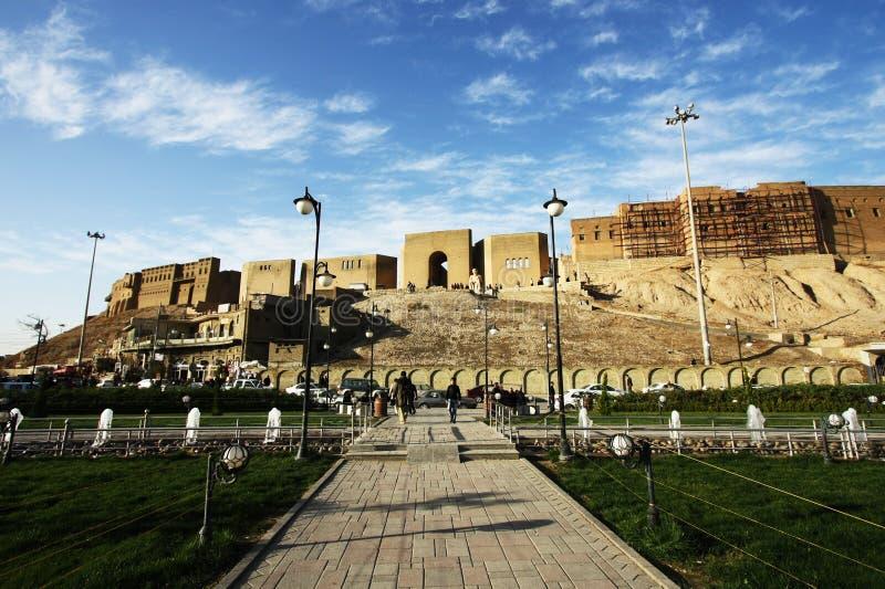 Цитадель Erbil, город Erbil, Курдистан Ирака стоковое фото rf