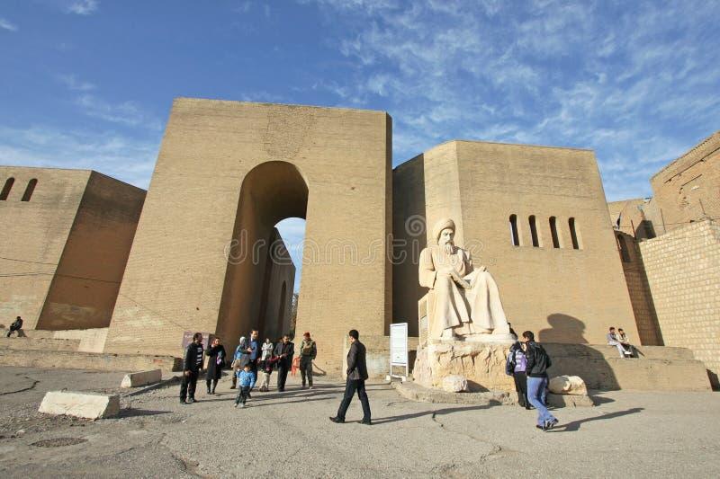 Цитадель Erbil, город Erbil, Курдистан Ирака стоковое фото