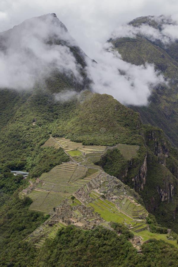 Цитадель Machupicchu с горой Machupicchu стоковые фото