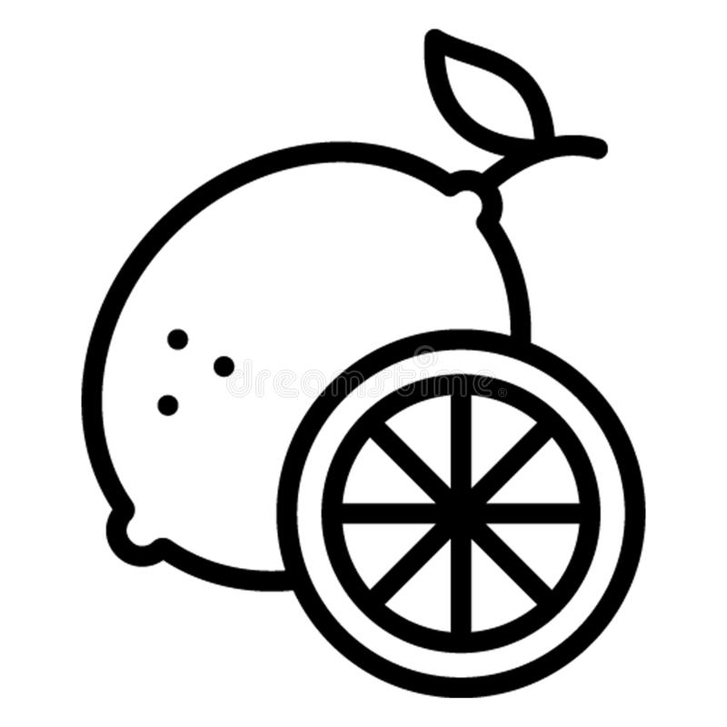 Цитрус, значок вектора плода который может легко редактировать иллюстрация штока