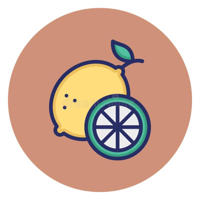 Цитрус, плод изолировал значок вектора который может легко доработать или отредактировать бесплатная иллюстрация