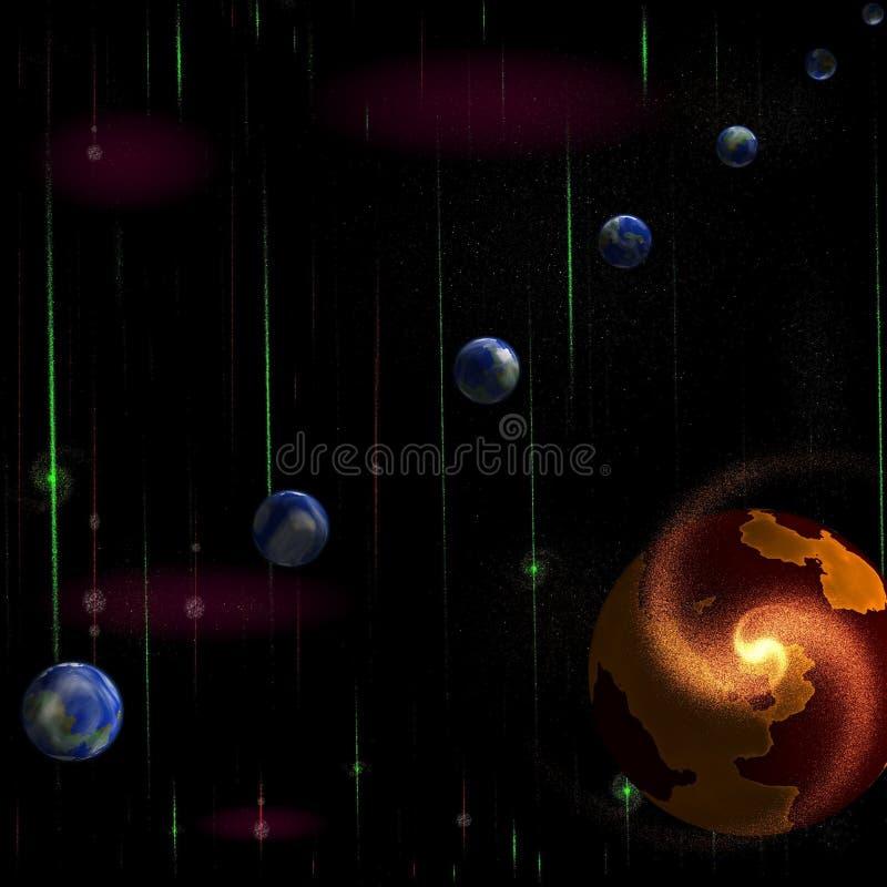 цифровая галактика иллюстрация вектора
