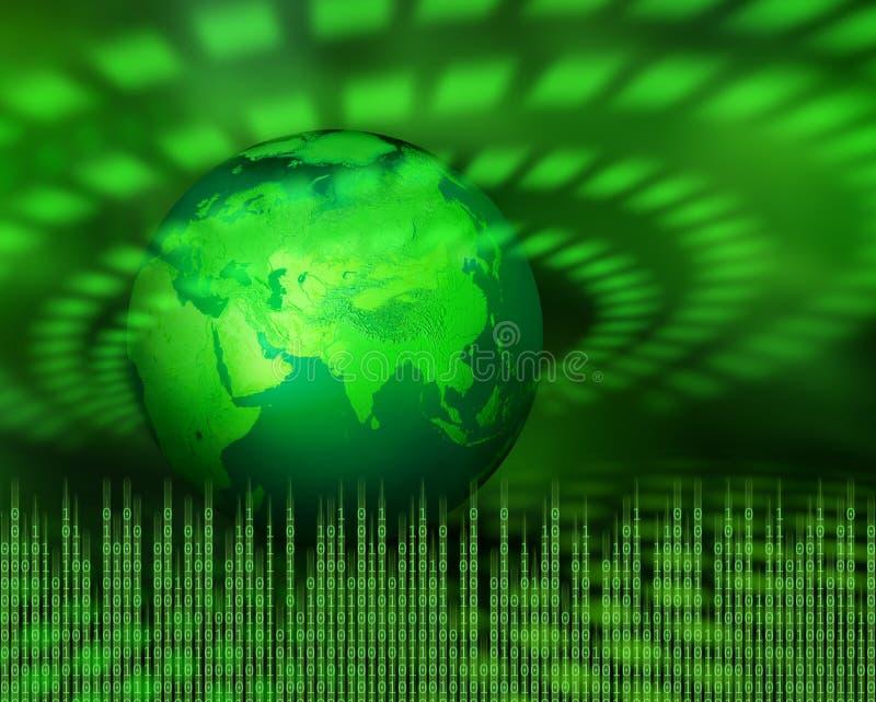 цифровая зеленая планета иллюстрация вектора