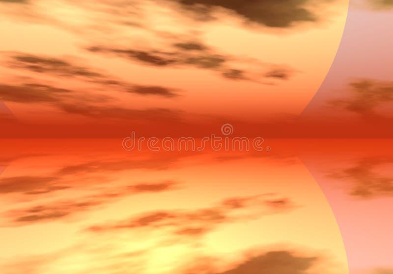 Download цифровое небо моря иллюстрация штока. иллюстрации насчитывающей океан - 1180413