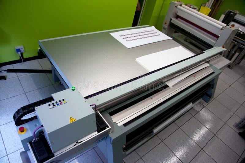 цифровое печатание принтера формы широко стоковое изображение rf