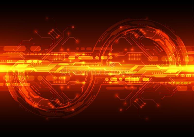 Цифровое технологии футуристическое монтажная плата технологии Соединение технологии абстрактная предпосылка вектор бесплатная иллюстрация