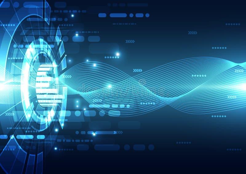 Цифровое технологии футуристическое Соединение технологии интернет технологии абстрактная предпосылка вектор иллюстрация вектора