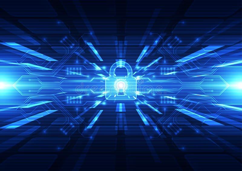 Цифровое технологии футуристическое Соединение технологии Безопасность технологии абстрактная предпосылка вектор бесплатная иллюстрация