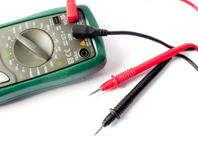 цифровой вольтамперомметр электрического оборудования измеряя стоковые фото