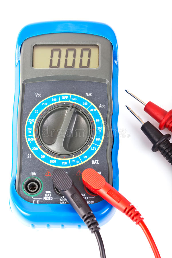 Цифровой вольтамперомметр стоковые изображения