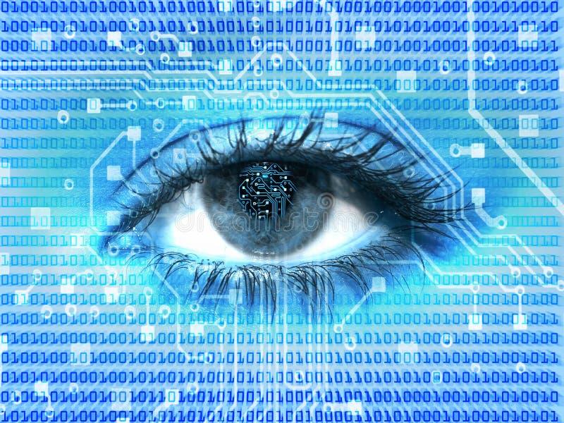 цифровой глаз иллюстрация штока