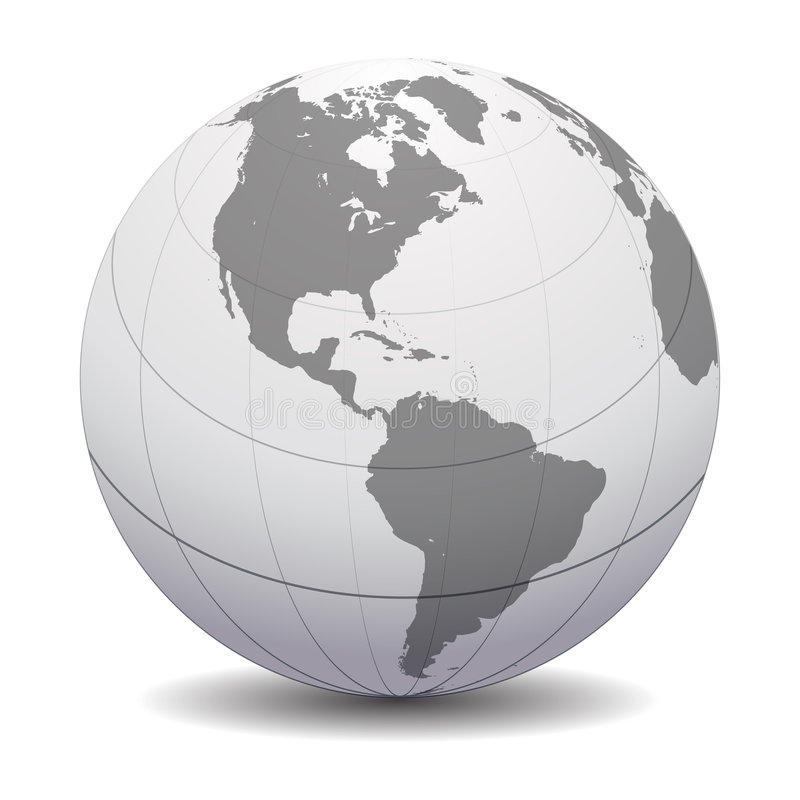 цифровой глобус иллюстрация штока