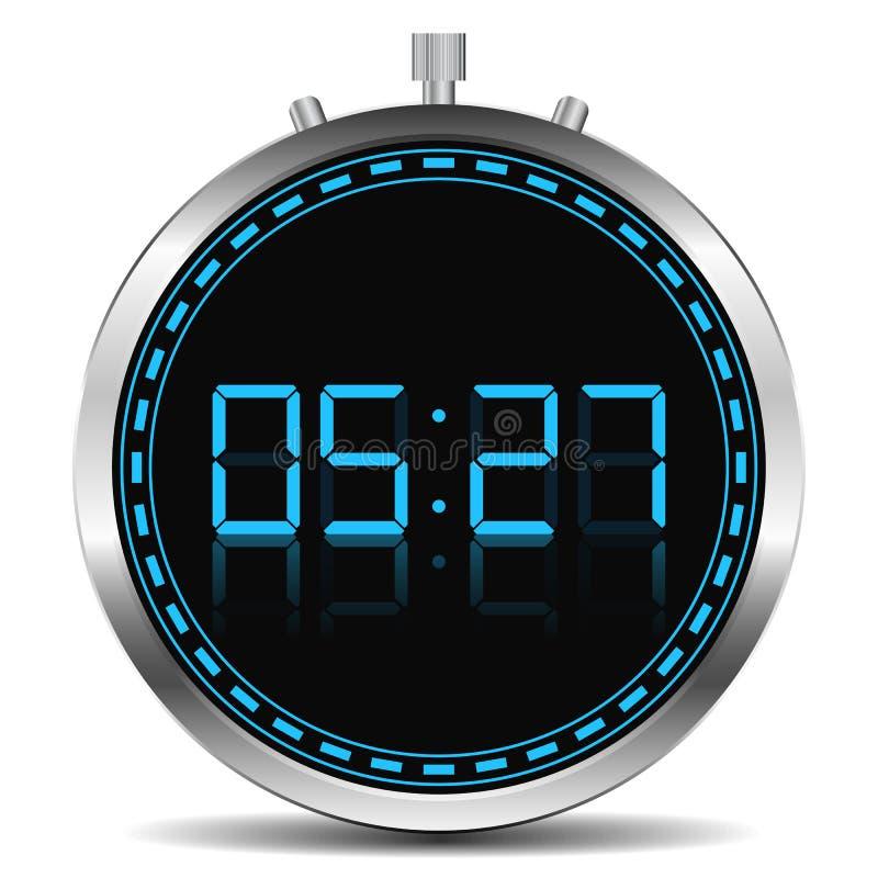 цифровой отметчик времени иллюстрация штока