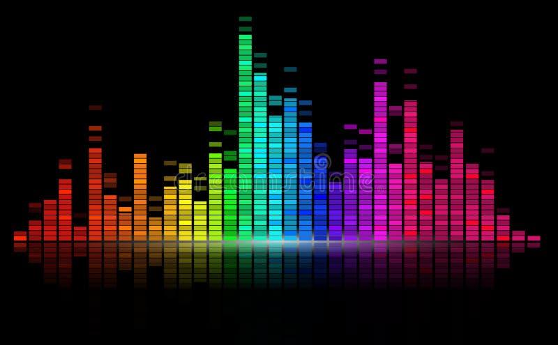 цифрово выравните звук иллюстрация штока