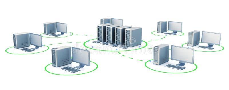 цифровые серверы иллюстрация вектора