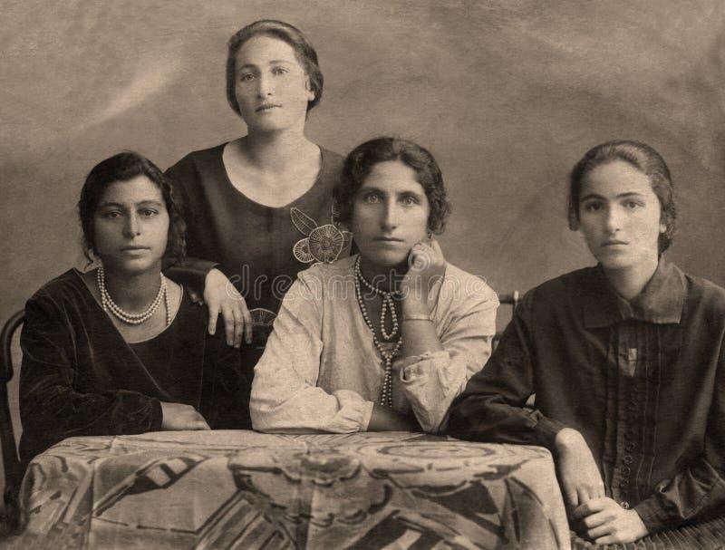 Цыганская семья стоковые изображения