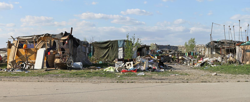 Цыганский выселок стоковые фото