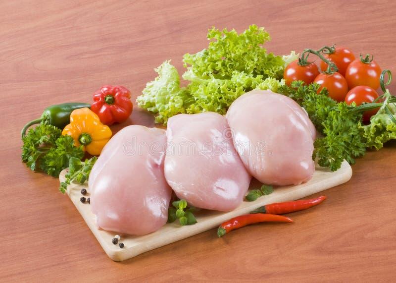 цыпленок грудей сырцовый стоковые изображения