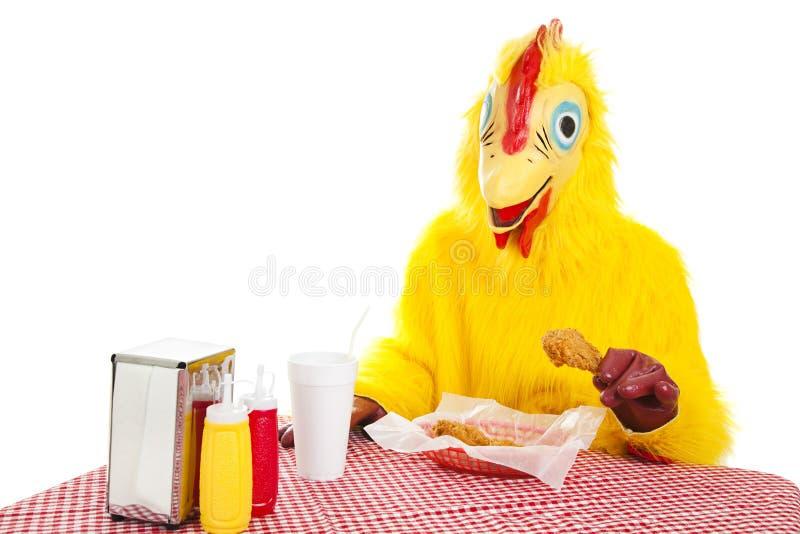цыпленок ест больше стоковое фото rf