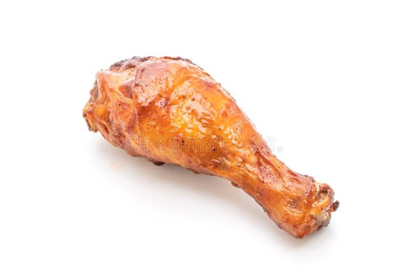 цыпленок зажаренный и барбекю стоковая фотография rf