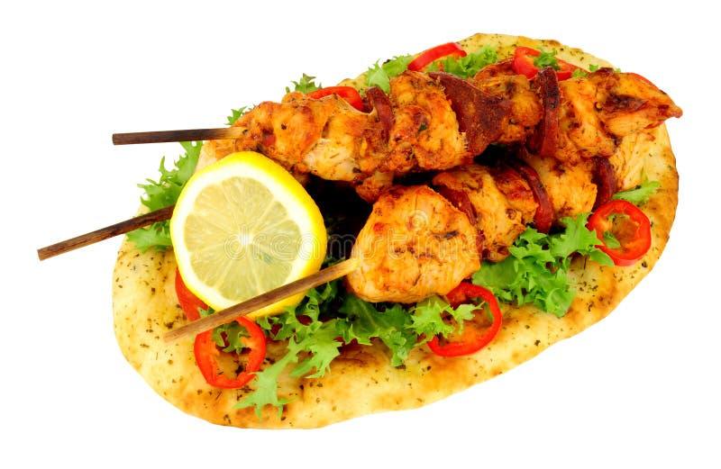 Цыпленок и Chorizo Kebabs стоковые изображения rf