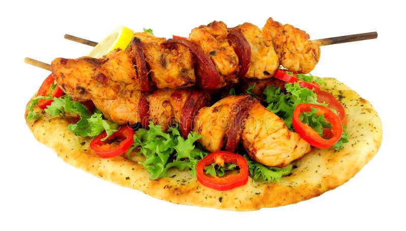 Цыпленок и Chorizo Kebabs стоковые изображения