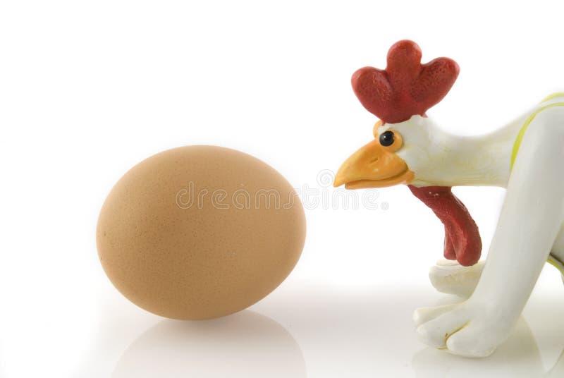 цыпленок смешной стоковое изображение