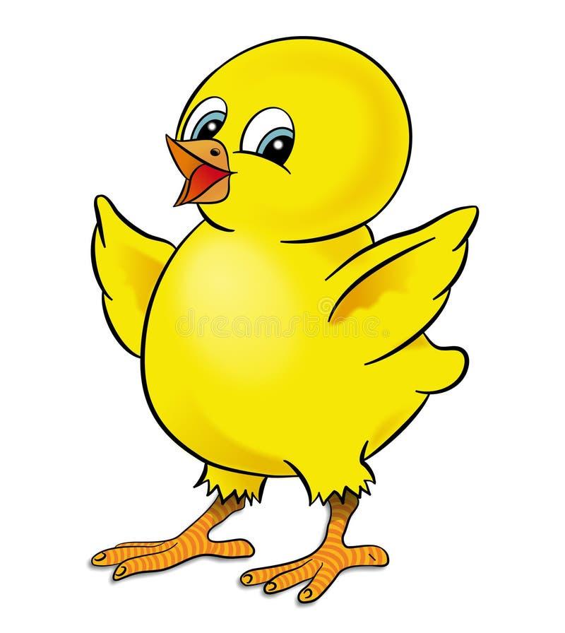 цыпленок счастливый иллюстрация вектора