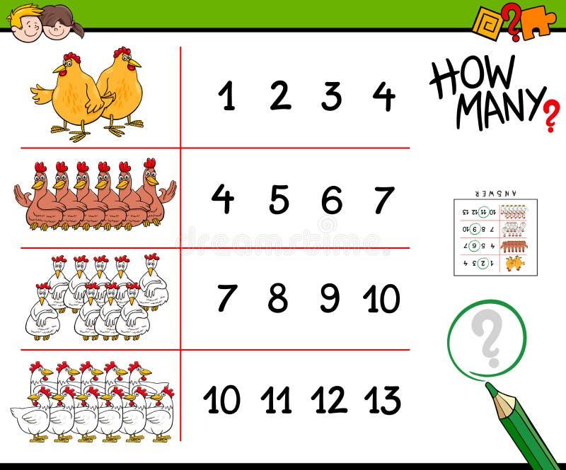 Цыпленок считая иллюстрацию мультфильма игры бесплатная иллюстрация