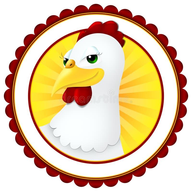 цыпленок шаржа стоковое изображение