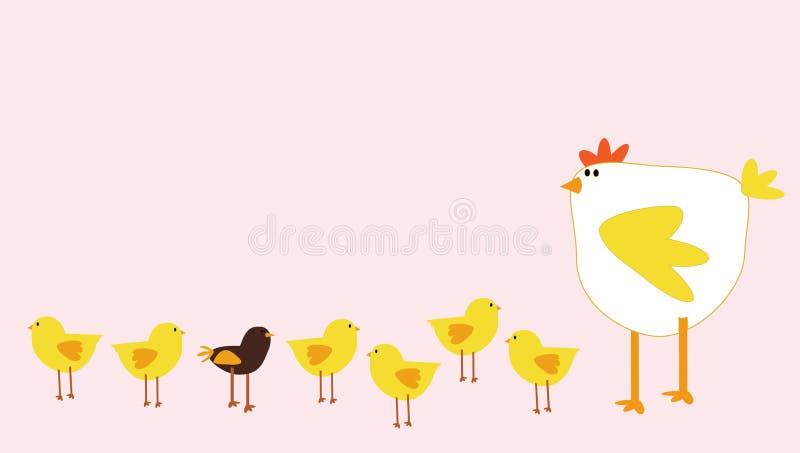 цыпленок иллюстрация штока