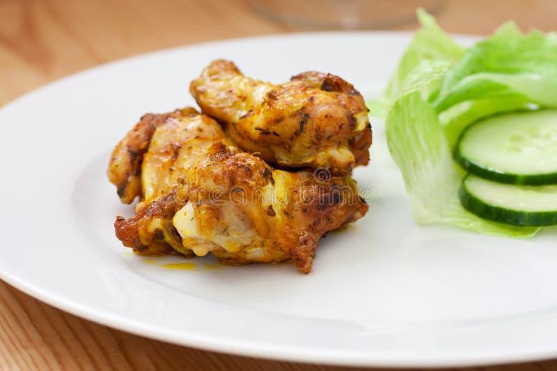 цыпленок bbq кудрявый стоковая фотография