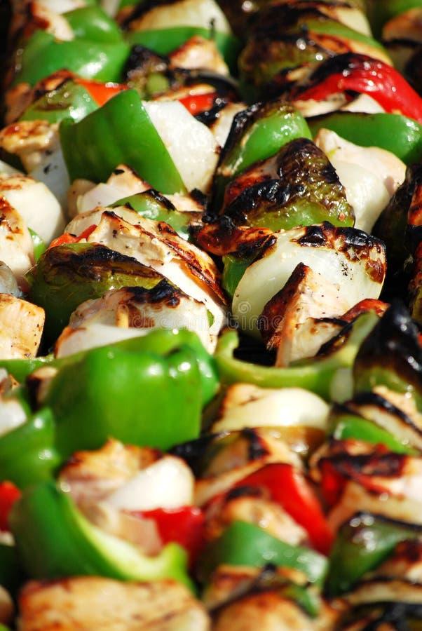 цыпленок kebabs стоковое изображение rf
