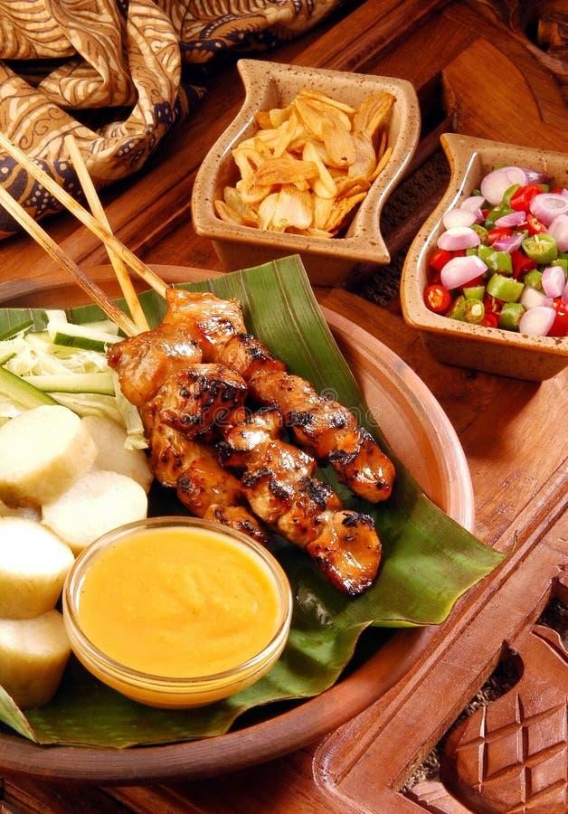 цыпленок satay стоковые фото