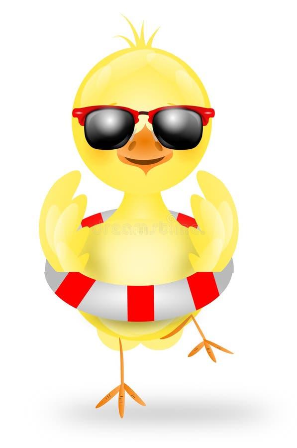Цыпленок в лете бесплатная иллюстрация