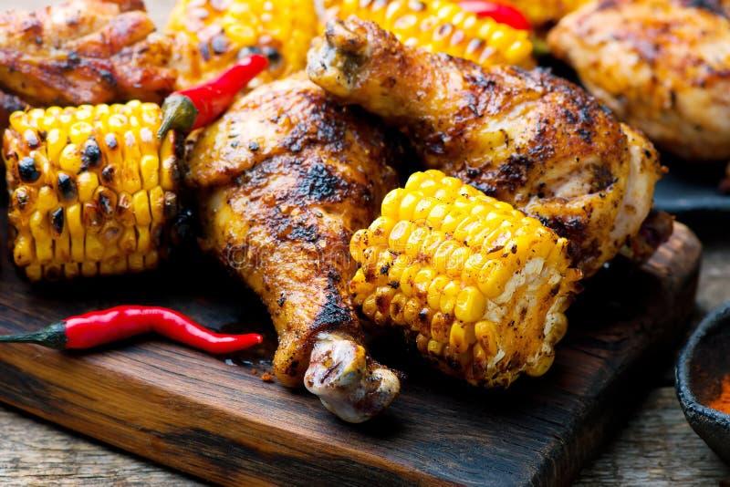 Цыпленок и мозоль Cajun стоковое изображение rf