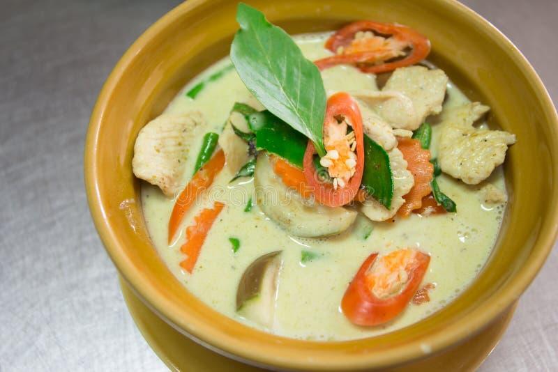 Цыпленок карри зеленого цвета еды Таиланда стоковые фото