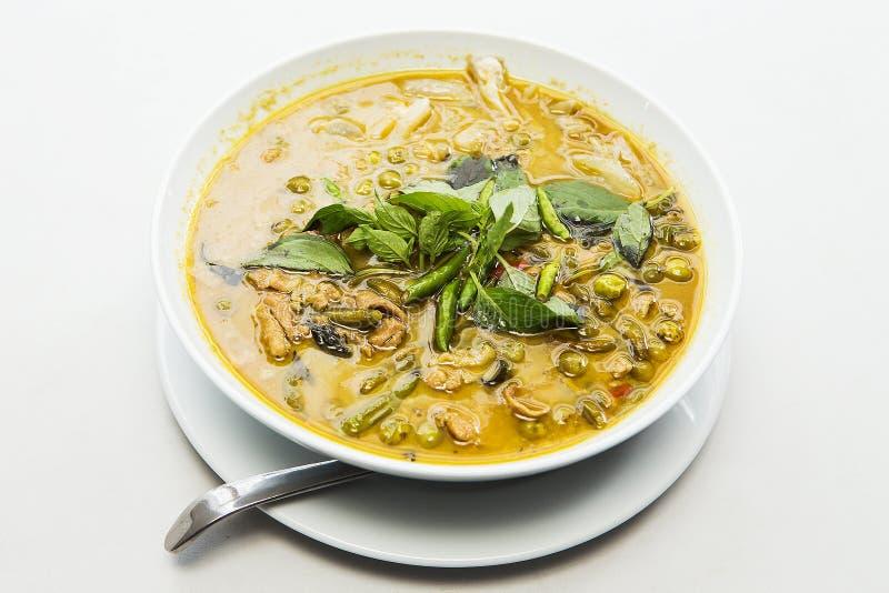 Цыпленок карри зеленого цвета еды Таиланда стоковое изображение