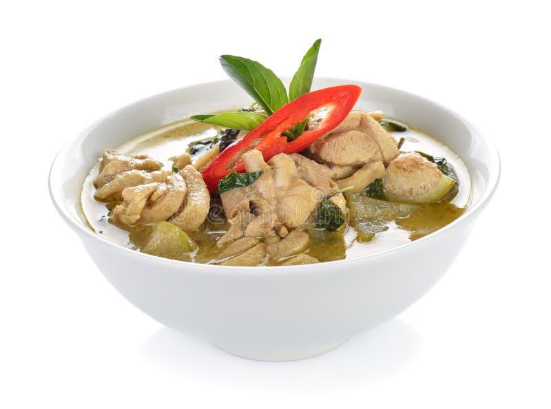 Цыпленок карри зеленого цвета еды Таиланда стоковое изображение rf