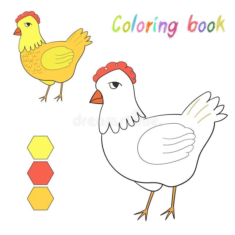 Цыпленок книжка-раскраски ягнится план для игры бесплатная иллюстрация