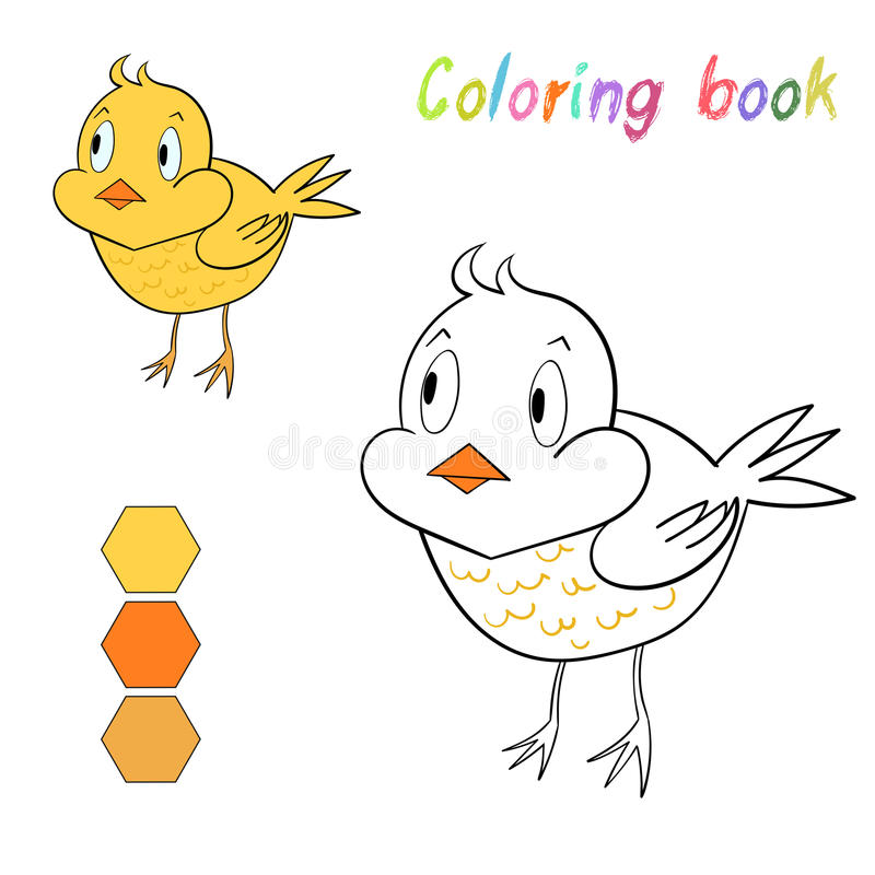 Цыпленок книжка-раскраски ягнится план для игры иллюстрация штока
