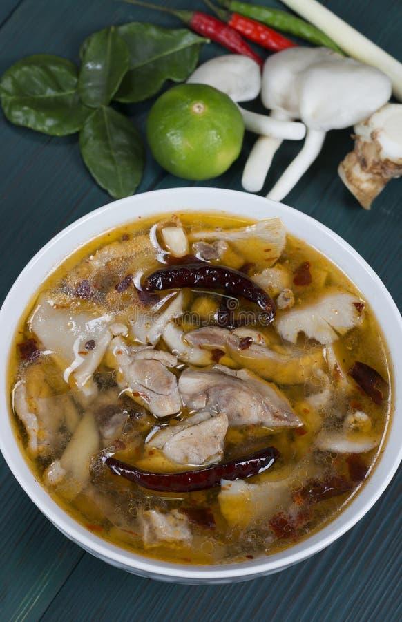 Цыпленок Том Yum стоковое изображение
