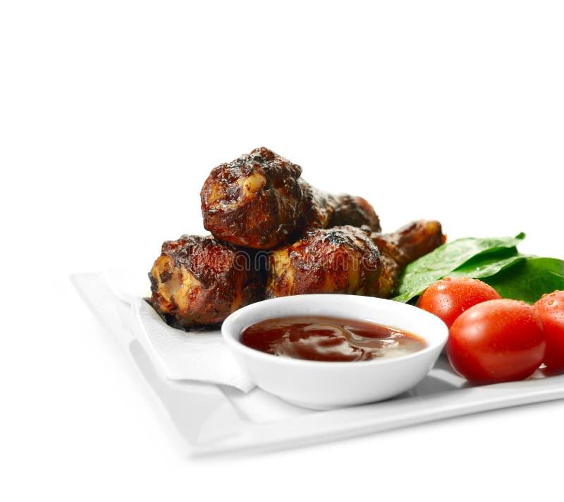 Цыпленок 2 BBQ стоковая фотография rf