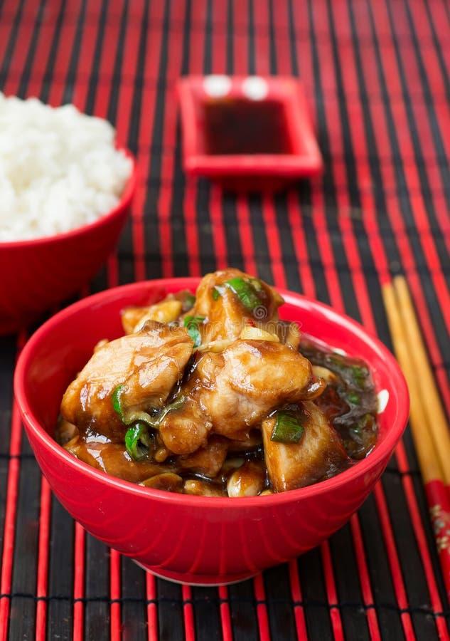 Цыпленок Kung Pao - блюда традиционного китайския стоковое изображение rf