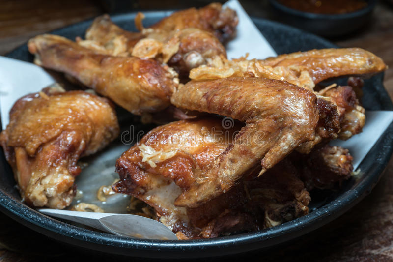 Цыпленок Salted зажаренный стоковое фото rf