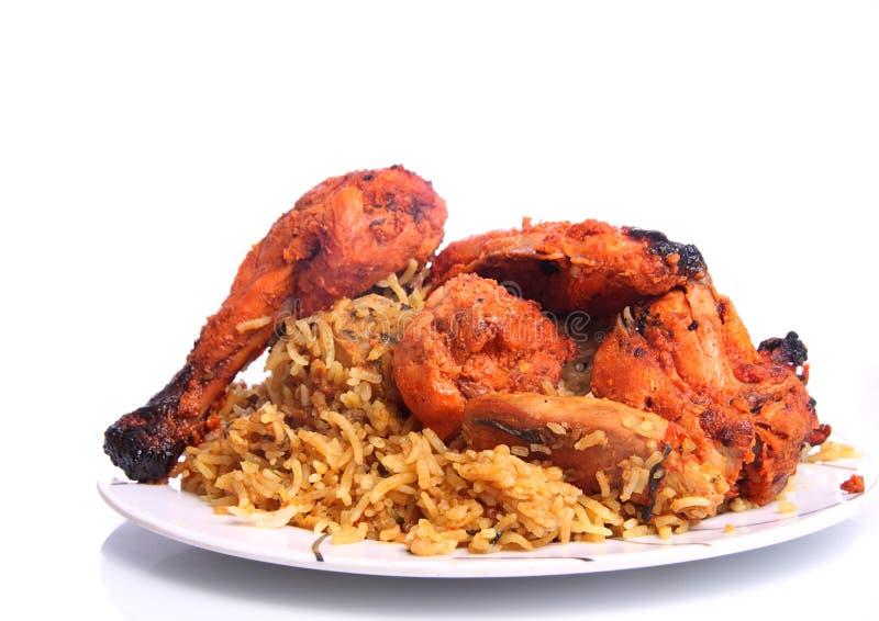 Цыпленок Tandoori и цыпленок Biryani стоковое изображение