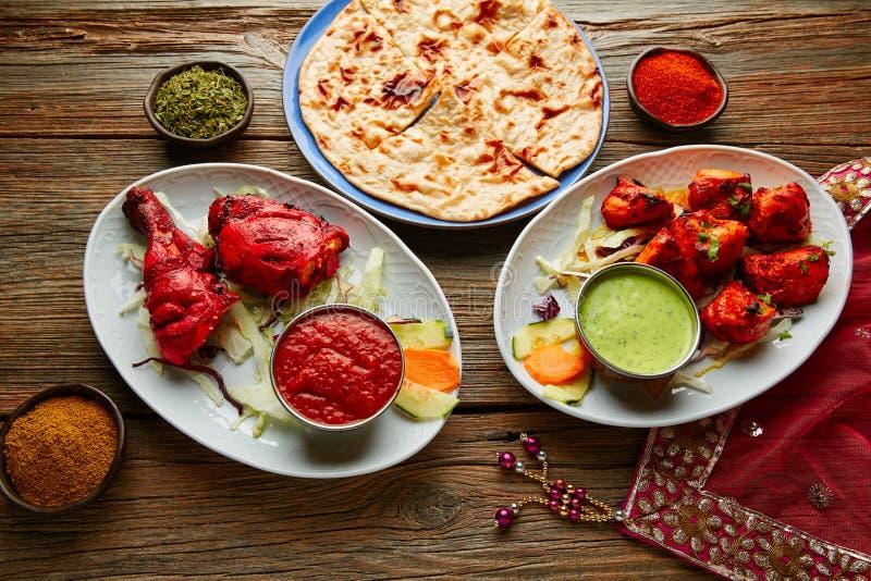 Цыпленок Tandoori и цыпленок Tikka стоковая фотография