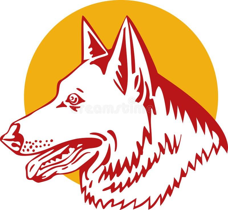 чабан собаки немецкий иллюстрация вектора